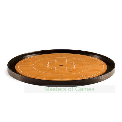 Masters Crokinole Tournament Board - Beech & Ebony (incl hanging kit)