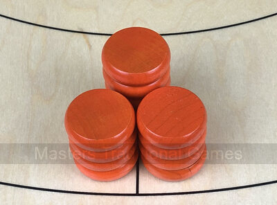 Tracey Orange Crokinole Buttons (set of 13)