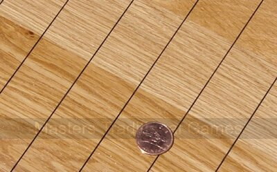 Oak Push Penny board with 5 unsmoothed old English Pennies, chalk & rules