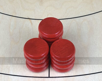 Tracey Red Crokinole Buttons (set of 13)