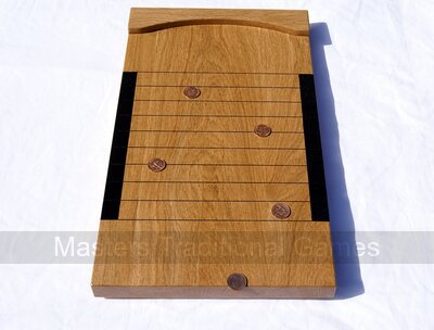 Hand-made Oak Tournament Shove Ha'Penny Board