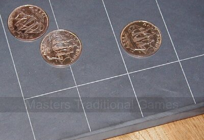 Masters Slate Shove Ha'penny board (21 x 14 inch smoothed ha'pennies - tails visible)