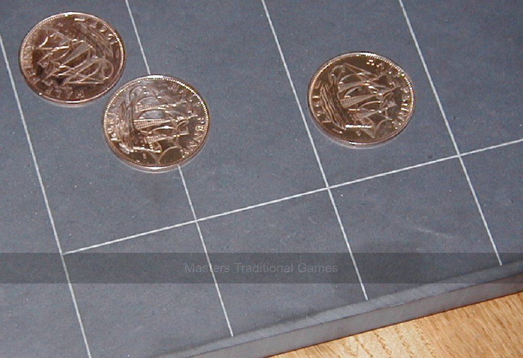 Set of 5 old English Ha/'pennies smoothed heads side visible