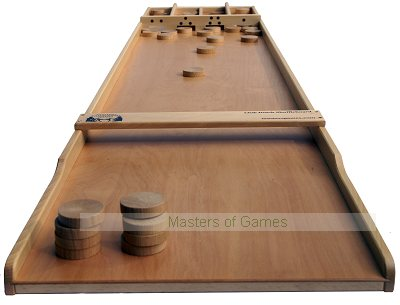 Masters Club Dutch Shuffleboard (Beech Sjoelbak with concave disks)