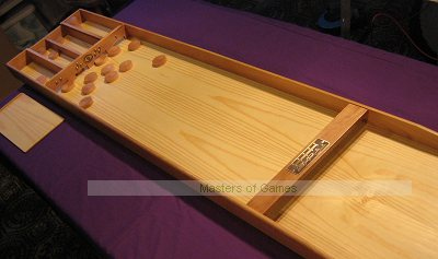 Hand-made Solid Oak Dutch Shuffleboard (Sjoelbak incl. 32 tournament disks)
