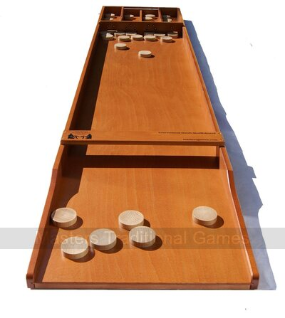 Masters Tournament Dutch Shuffleboard (Beech Sjoelbak with disks)