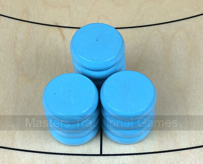 Tracey Turquoise Crokinole Buttons (set of 13)