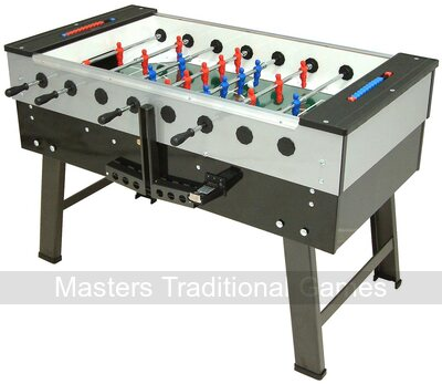 FAS San Siro Football Table - Coin-Op, Grey/Black