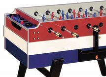 Garlando Red, White & Blue Football Table (Glass top, Coin-op)
