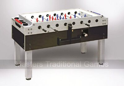 Garlando Silver Olympic Football Table (Glass top, Coin-op)