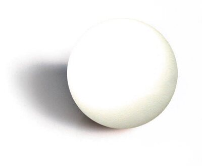 Set of 10 Garlando White table football balls (33mm  diam)