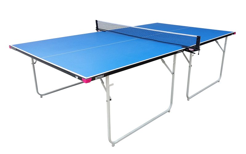 Butterfly Compact 16 Wheelway Table Tennis Table   Blue