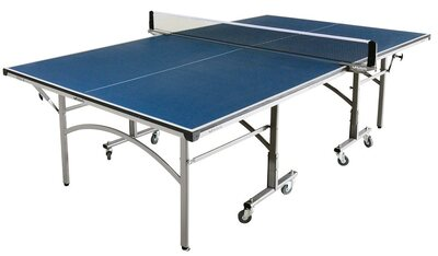 Butterfly Easifold 12 Outdoor Rollaway Table Tennis Table - Blue