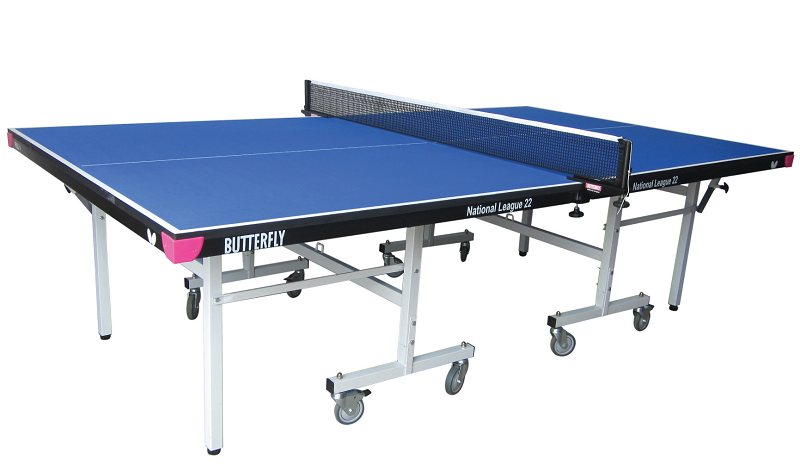 Butterfly National League 22 Rollaway Table Tennis Table   Blue