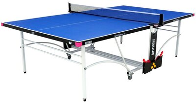 Butterfly Spirit 10 Outdoor Rollaway Table Tennis Table - Blue