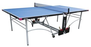Butterfly Spirit 12 Outdoor Rollaway Table Tennis Table - Blue