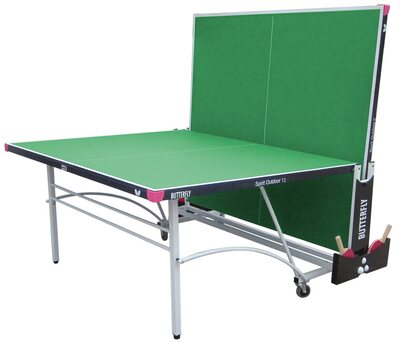 Butterfly Spirit 12 Outdoor Rollaway Table Tennis Table - Green