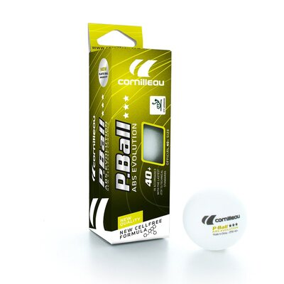 3 x Cornilleau ABS Evolution 40mm Table Tennis Balls