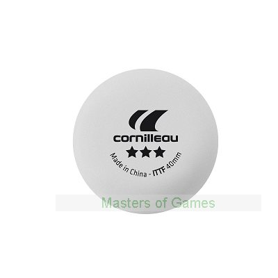 Cornilleau Elite ITTF 40mm Table Tennis Balls - Box of 3 - White