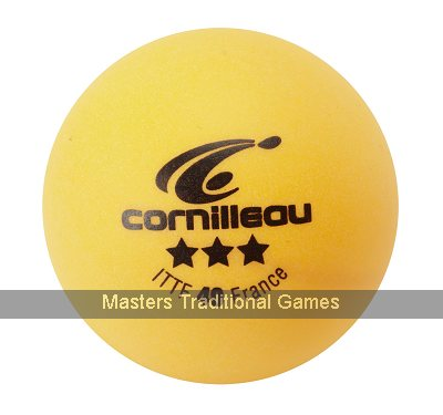 Cornilleau Elite ITTF 40mm Table Tennis Balls - Box of 3 - Orange