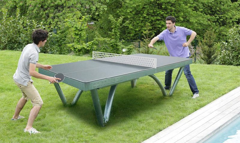 Backyard Table Tennis Rules : Cornilleau Park Permanent Static Outdoor Table Tennis Table