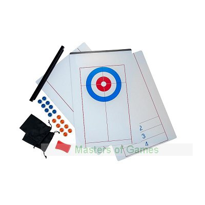 2 in 1 Curling and Shuffleboard Table-Top Game - 180cm