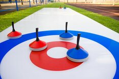 Portable Curling Rink, 10 x 2m, includes 6 stones - 12.7mm thick 'Lite' version
