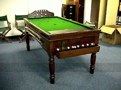 Reconditioned Oak Bar Billiards Table for sale