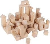 Natural Wooden Building Blocks (100 pieces)