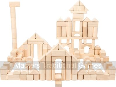 Natural Wooden Building Blocks (200 pieces)