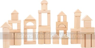 Natural Wooden Building Blocks (50 pieces)
