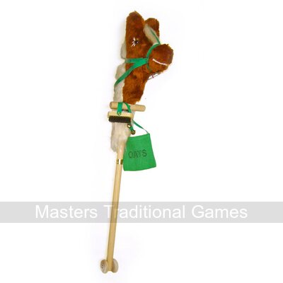 Masters Deluxe Personalised Hobby Horse On Wheels (faux fur head)