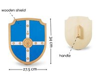 Wooden Sword & Shield Toy Play Set
