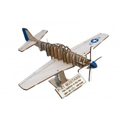 Artesania Latina Wooden Model North American P-51 Mustang Plane